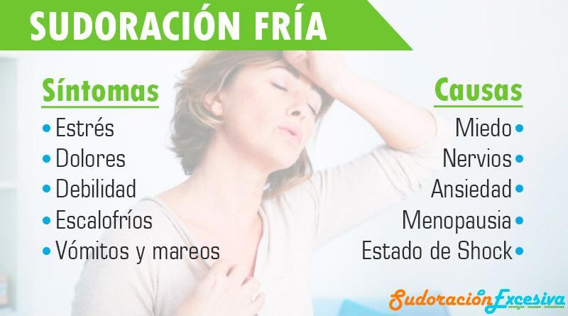 Sintomas y Causas de la sudoración fría